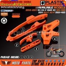 Orange schwinge kette slider kit + cnc kettenschutz guide + bremse schlauchschelle für KTM SX F SMR XC XCF 125 150 200 250 350 450 525