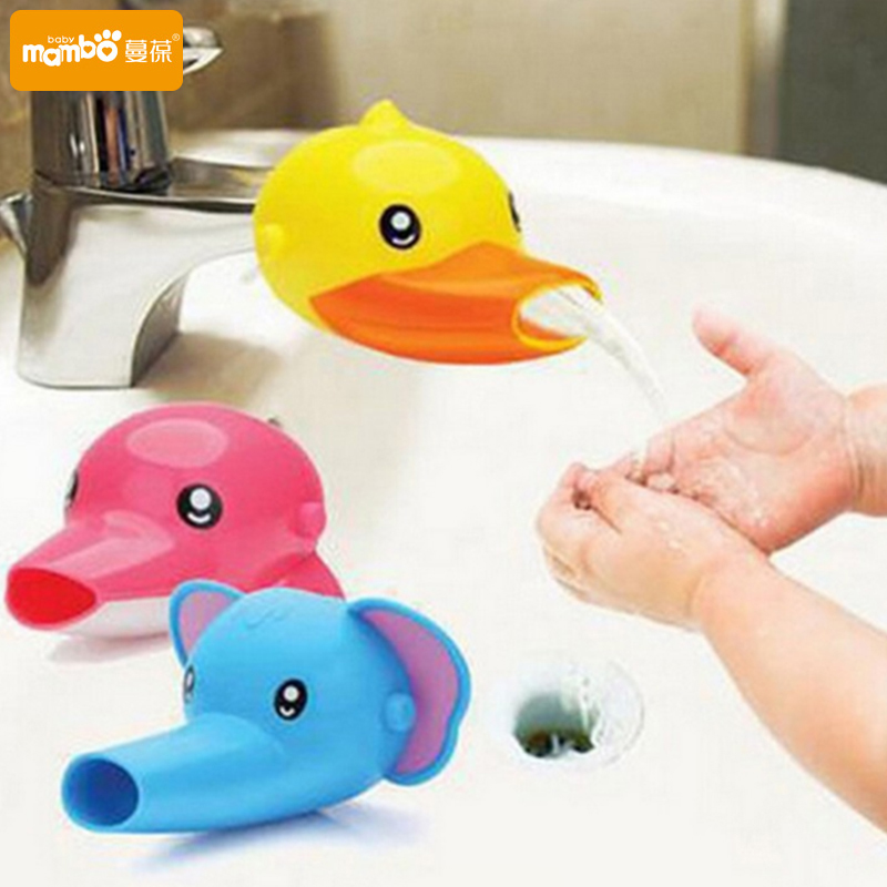 1 pc Free shipping Happy Fun Animals Faucet Extender Baby Tubs Kids Hand Washing Bathroo ...