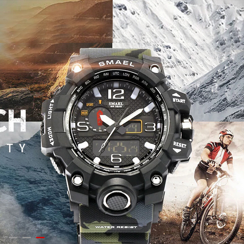 2017 Military Sport Watch Men Top Brand camouflage Army Electronic LED Digital Luxury Wrist Watch Male Clock Relogio Masculino dropshipping boys girls students time clock electronic digital lcd wrist sport watch relogio masculino dropshipping 5down