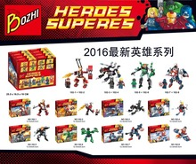 Bozhi 102 Avenger Super Hero Mecha Building Block 8pcs/lot Minifigures Compatible with Legoe Brick Toy Christmas Gift