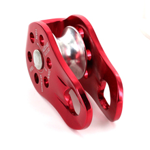 20KN Heavy Duty Outdoor Mountaineering Rock Climbing Rope Pulley Equipment  Fixed Type Survival Tool Red