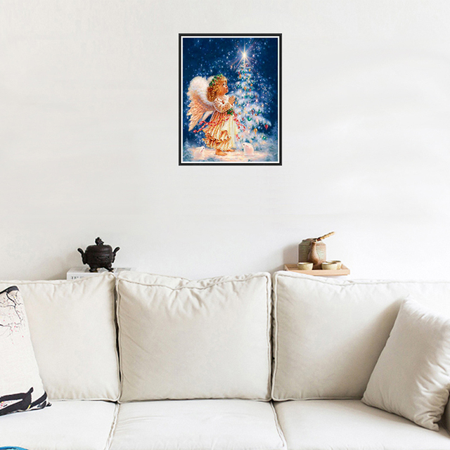 Diamond painting kits Christmas Little Angel under Moon office shops ...