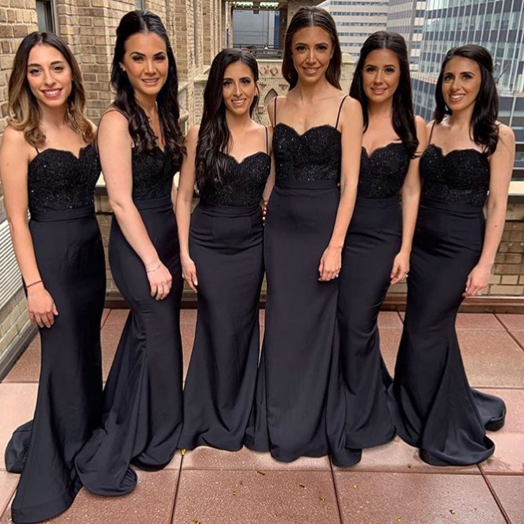 Long   Bridesmaid     Dresses   2019 Mermaid Sweetheart Sleeveless Wedding Guest Party Gown robe demoiselle d'honneur Free Custom Made