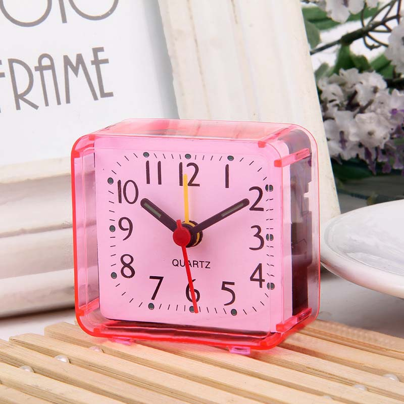 2pc Home Decor Stylish Minimalist Alarm Clock Design