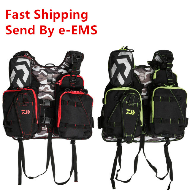 Daiwa Adjustable Men Outdoor Fishing Vest Fishing Clothes Fly Fishing Safety Life Jacket Multi Pockets Fishing ClothingDaiwa Adjustable Men Outdoor Fishing Vest Fishing Clothes Fly Fishing Safety Life Jacket Multi Pockets Fishing Clothing