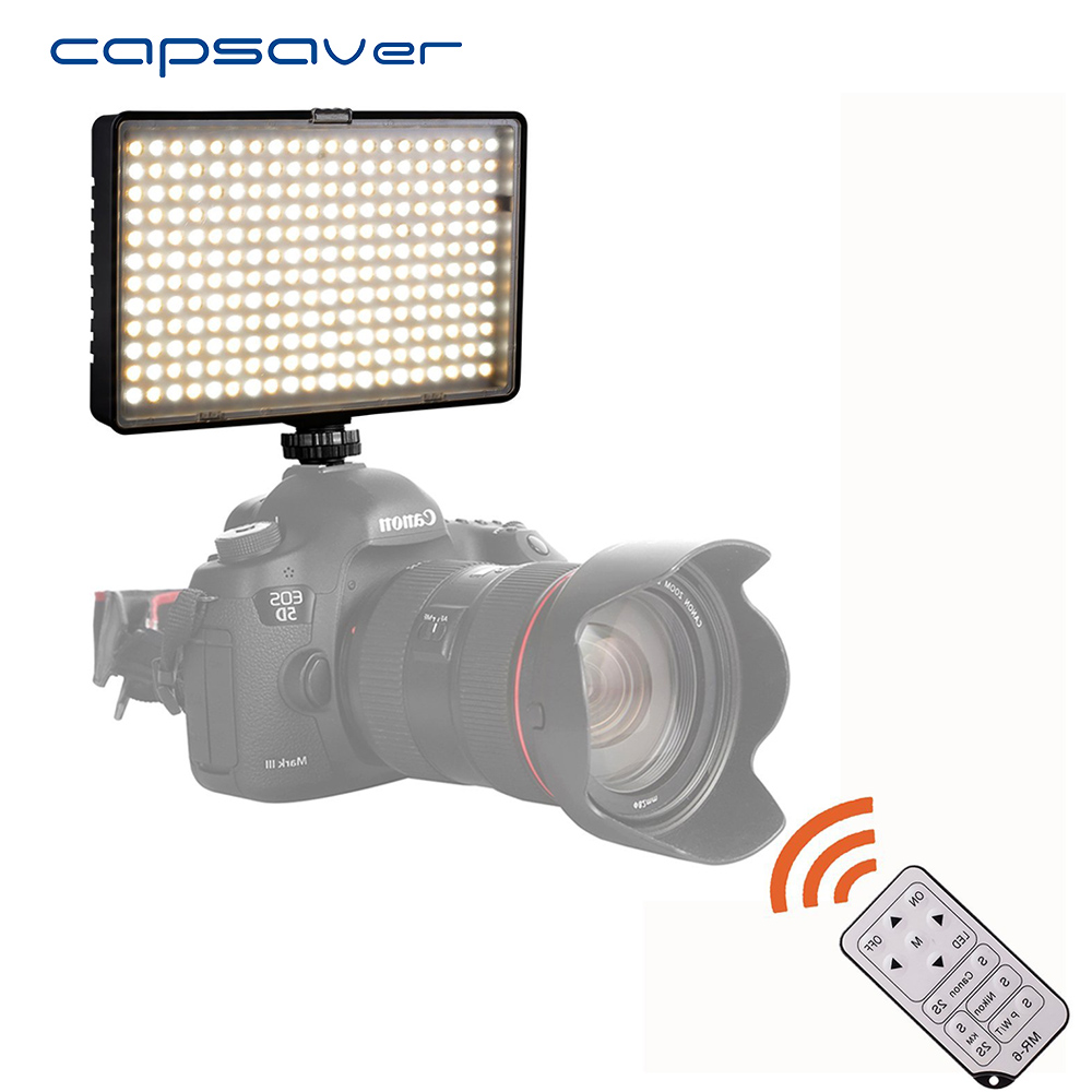 capsaver TL-240AS LED Video Light Photography Lighting Handheld Studio Light Lamp with Remote Control Bi-color 3200K-5600K CRI93