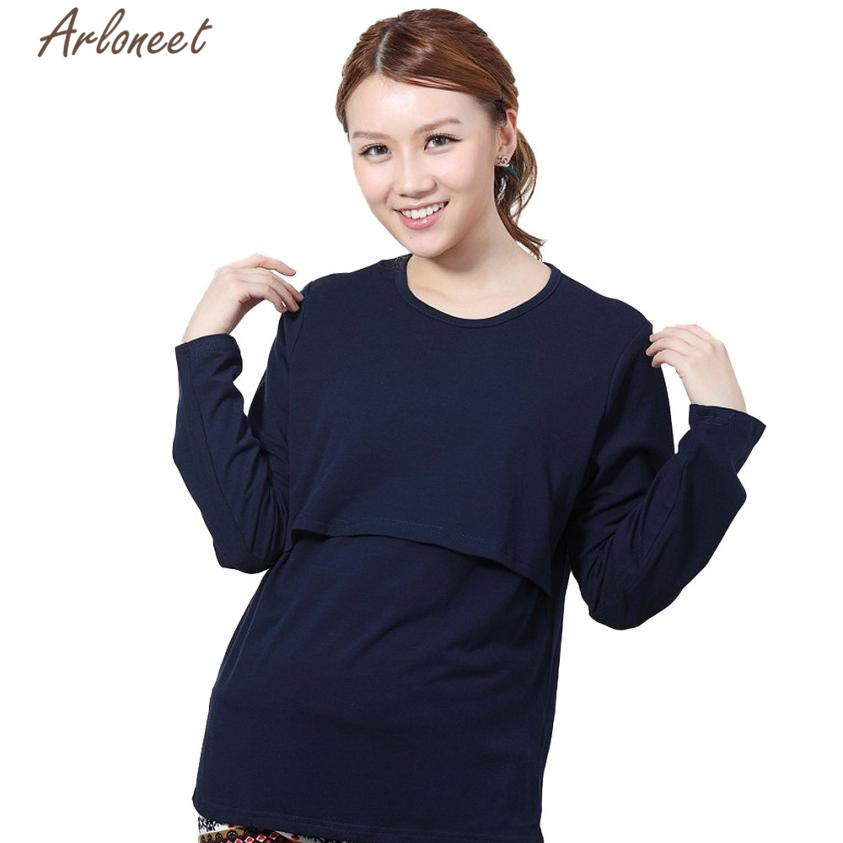 ARLONEET clothes for pregnant women Pregnant Maternity Clothes Nursing Tops Breastfeeding Long Sleeve nov28