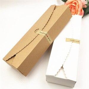 Image 1 - Boîte demballage en papier à bonbons et pain, forme longue 23*7*4cm, 50 pièces/lot, fournitures demballage pour fêtes de mariage, festival
