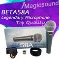 Обновление Версии BETA 58A!! профессиональные Супер-Кардиоидный Wired Этап Ручной Караоке Динамический Микрофон Микрофон BETA58 Бета 58