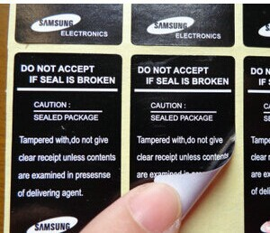 500 PCS/Lot universal mobile phone seal label sticker samsung Galaxy S4 I9500 S3 S2 delivery free of charge