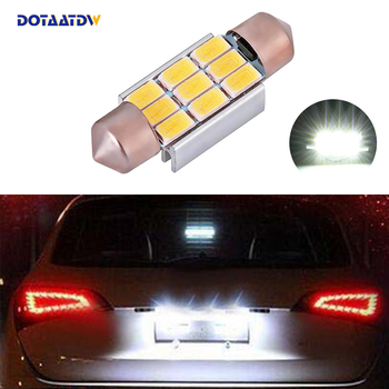 DOTAATDW 1x Car Led Error Free 36mm C5W 5630 SMD Lamp 12V License Number Plate Light For BMW E39 E36 E46 E90 E60 E30 E53 E70 image