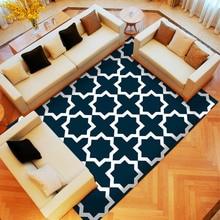 Alfombra decorativa Vintage moderna clásica a rayas geométricas para sala de estar Tatami grande alfombra grande para dormitorio antideslizante