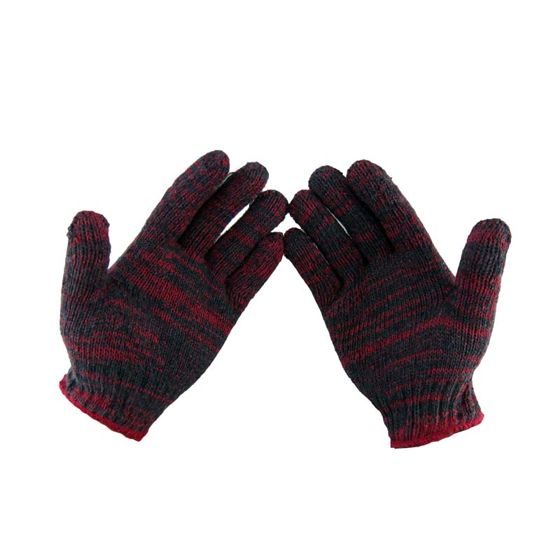 12 Pairs <font><b>Cotton</b></font> Safety Gloves Wear-Resistant Work Gloves Thick Against High Temperature Low Temperature Garden Protective Gloves