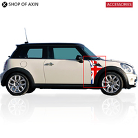 Red Blue Union Jack Side Scuttles Trim Decoration Sticker For Mini Cooper