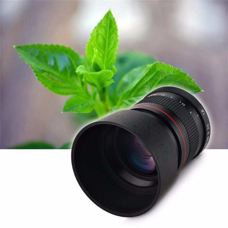 Lightdow 85mm F1.8-F22 Manual Focus Portrait Lens Camera Lens for Canon EOS 550D 600D 700D 5D 6D 7D 60D DSLR Cameras 9