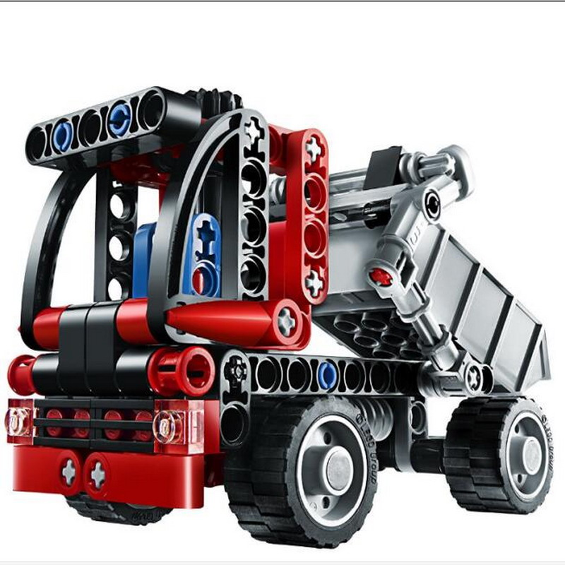 Decool 3345 Technic City Series Mini Container Truck Model Building Blocks Enlighten Figure Toys For Children Compatible Legoe 7112 decool batman chariot superheroes the batwing model building blocks enlighten diy figure toys for children compatible legoe