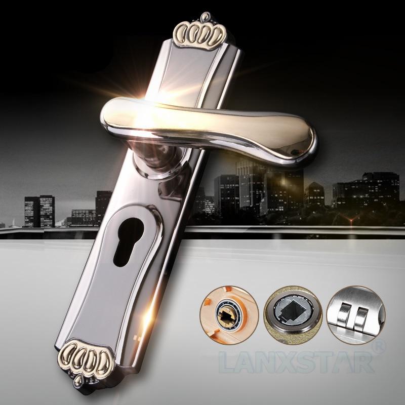 ФОТО Factory Direct Selling Zinc Alloy Indoor Wooden Door Lock European Style High-end Anti-theft Lockcore Mechanical Door-locks