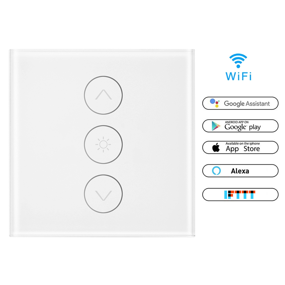 Eu Uk Us Standard Smart Dimmer Switch 1 Gang 400w Wifi