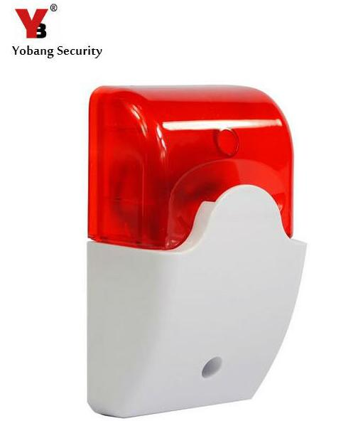 Yobang Security Wired Siren Horn 105dB Mini Electronic Wired Alarm Siren Horn for Security System DC12V Mini Wired Horn horn