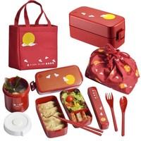 Japan style bento box plastic lunch box cartoon microwaveble tableware with bags spoons chopsticks 23