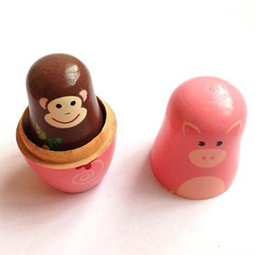 aliexpress com buy 5pcs set cute wooden matryoshka nesting