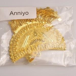 Image 5 - Anniyo Very Big Africa Pendant Necklaces for Women Gold Color Ethiopian/Nigeria/Congo/Sudan/Ghana/Arab Jewelry #098506