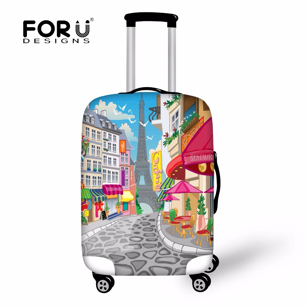 5808deda9 Cartoon Painting Eiffel Tower Protective Luggage Cover Elastic Stretch  Waterproof Travel Covers for 18 30 Trolley Suitcase-in Bag Parts &  Accessories from ...