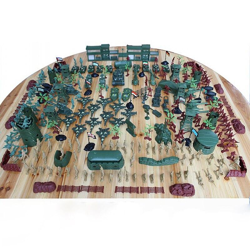 310 шт World WarII Военная пластиковая солдатская армейская Мужская фигурка и аксессуары игровой набор солдатская модель песочница игровая модел... - 3