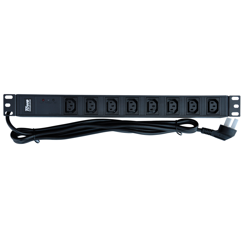 TOWE Cabinet Socket PDUs  SPD Power Distribution Unit EN10/I818S 10A 8 WAYS IEC320 C13 19inch  19in  Hot