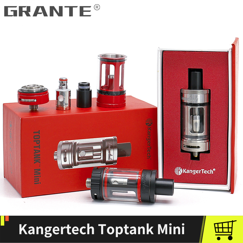 Original Kangertech Toptank Mini Atomizer 4.0ml Top Refilling Tank 510 thread 510 Drip Tip With 0.5ohm SSOCC Coil  Vape Tank