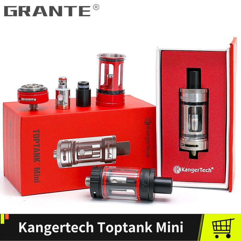 Original Kangertech de Toptank Mini atomizador 4,0 ml superior rellenar el tanque 510 hilo de 510 la punta de goteo con 0.5ohm SSOCC bobina Vape tanque