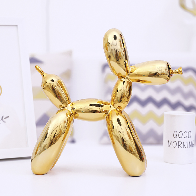 Jeff koons large balloon dog sculpture works of art contemporary contracted household desktop Decor Animals Figurines Gifts in Statues Sculptures from Home Garden