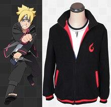 Anime Naruto Uzumaki Boruto fleecos Cosplay disfraz Boruto Casual Sudadera con capucha chaqueta para uso diario