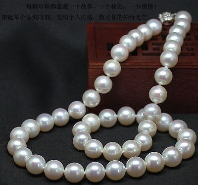 elegant AAA++ 10-11mm round south sea white pearl necklace 18inch 925silver>Selling jewerly free shippingelegant AAA++ 10-11mm round south sea white pearl necklace 18inch 925silver>Selling jewerly free shipping