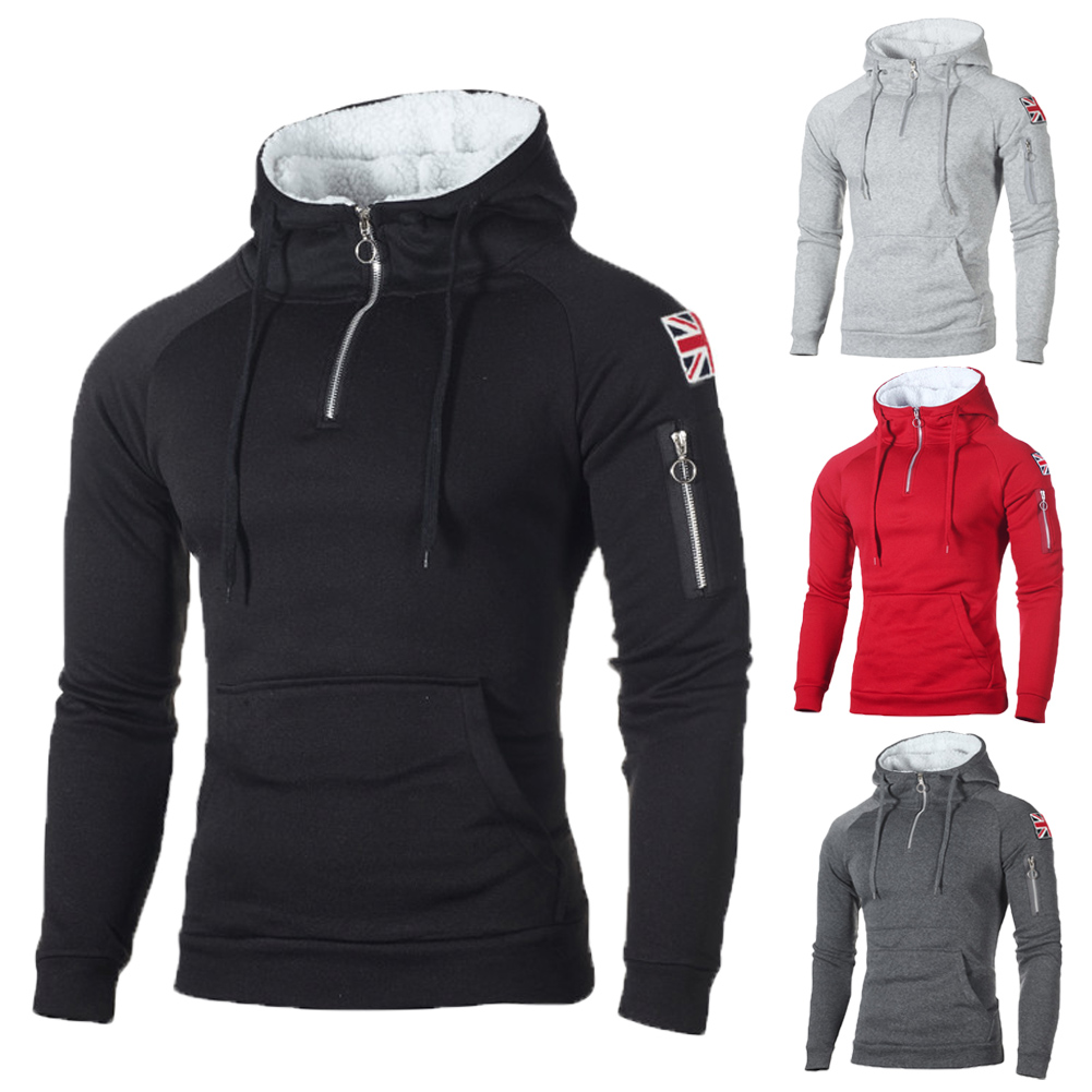 Reebok sherpa lined fleece mens hoodie