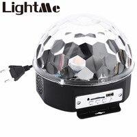 10-25 W 6 נוריות RGB פרימיום בקרת סאונד שלב אור מנורת rgb led כדור בדולח קסם דיסקו אור לייזר מסיבת חתונה מנורת