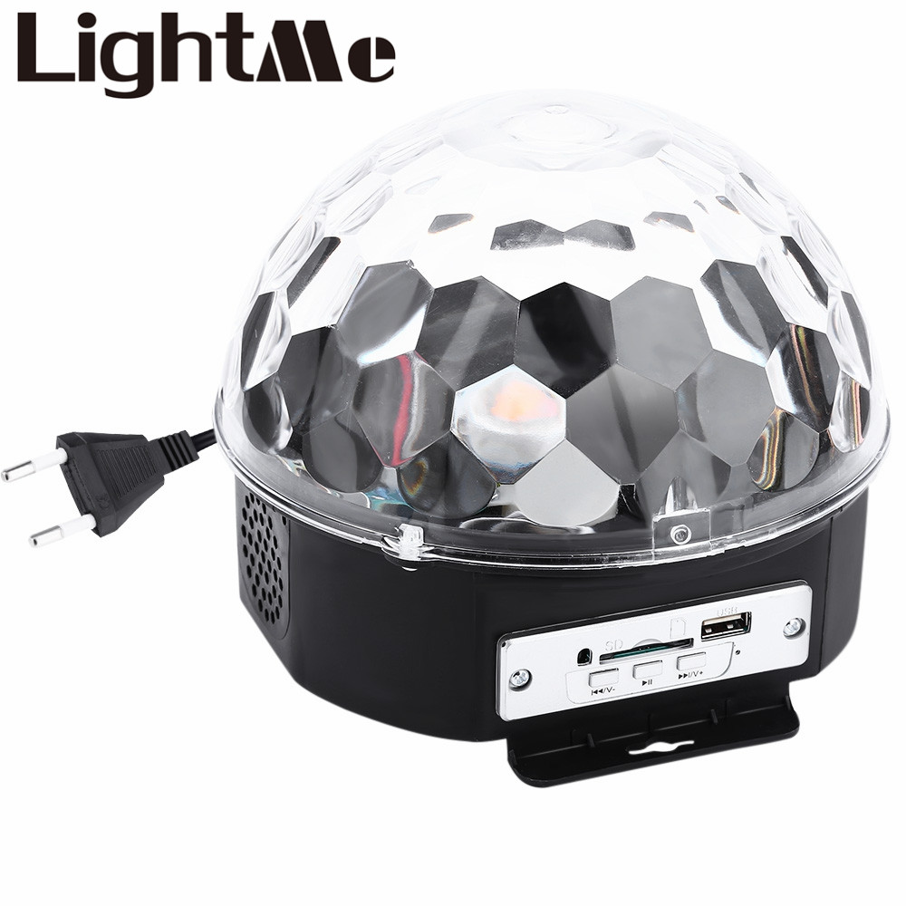 10-25 W 6 LEDs RGB Premium Control de sonido Luz de escenario RGB LED Magic Crystal Ball lámpara discoteca luz láser boda fiesta lámpara