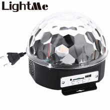 10 – 25W 6 LEDs RGB Premium Sound Control Stage Light RGB LED Magic Crystal Ball Lamp Disco Light Laser Wedding Party Lamp