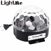 10-25 Вт 6 светодио дный s RGB Премиум Звук управление сценический свет светодио дный RGB led волшебный хрустальный шар лампа диско свет лазерная Свадебная вечеринка лампа