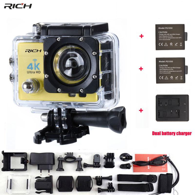 Action Camera Q3H Remote Control HD 1080P Wifi LCD 170 degree Wide-Angle Lens go pro Waterproof Sports camera f88 action camera black