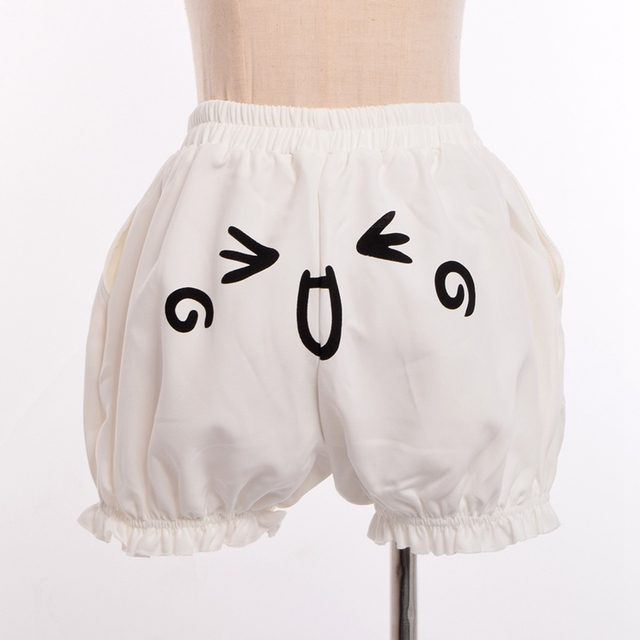 c3949c776 Japanese Cute Harajuku Pumpkin Shorts Women Cosplay Expression Face ...