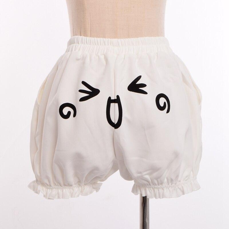 Japanese Cute Harajuku Pumpkin Shorts Women Cosplay Expression Face Knickerbockers