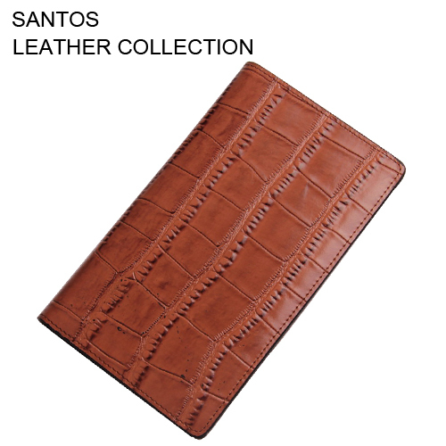 Santos Free Shipping + Credit Card Holder + Crocodile Leather Pattern Wallet + Debossed Leather Wallet  SAQBL001-Z