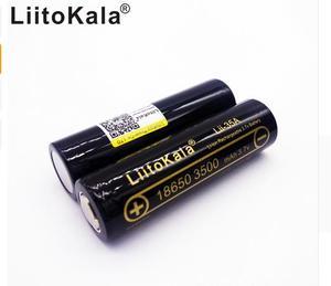 Image 3 - 4PCS 100% Original LiitoKala Lii 35A 3.7V 18650 battery 3500mAh 10A Discharging Rechargeable Batteries