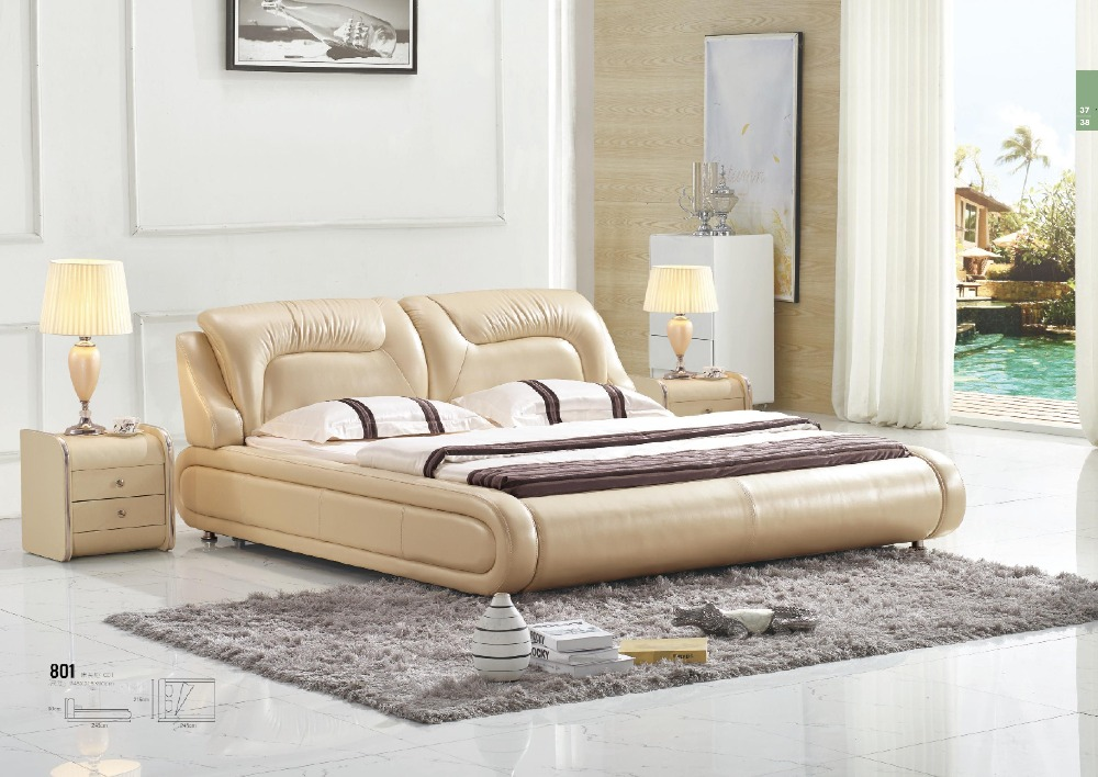 Luxury Modern Double Bed Design Furniture Leather Bed For Hot Sale Stunning Luxury Design Furniture