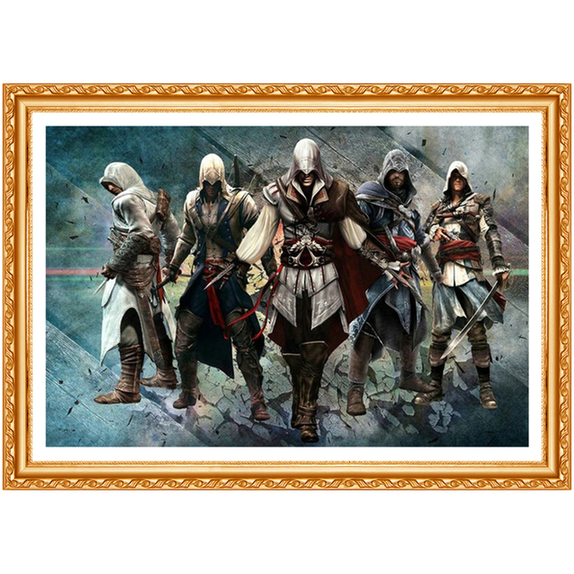 Assassin Creed 5d DIY Diamond Painting Cross Stitch Kits Full Diamond Embroidery 5D Diamond Needlework home