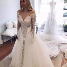 kejiadian Lace Tulle Sexy Luxury Wedding Dresses Detachable