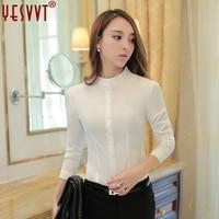 yesvvt 2017 autumn fashion chiffon shirt women long sleeve shirt ladies office shirts ol womens tops and blouses plus size 4xl