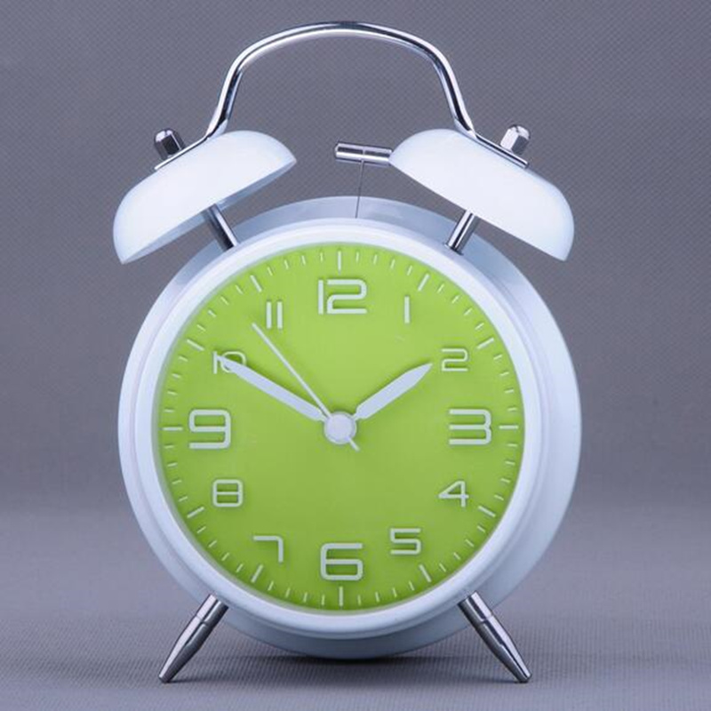Useful fashion stereoscopic alarm clock bedside desk table clock for schoolboys girls office worker home decor.