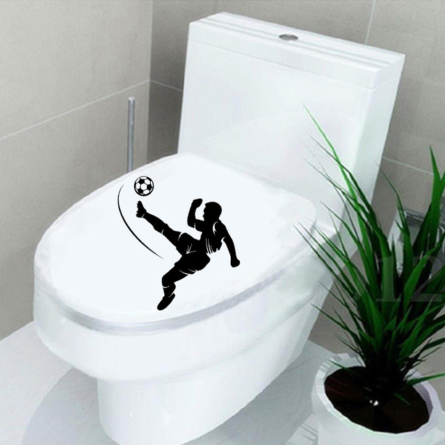 Soccer Player Sport Home Decor Bathroom Wall Toilet Stickers Decals Vinyl 6ws0177